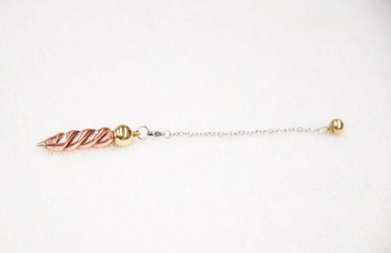 Copper dowsing pendulum
